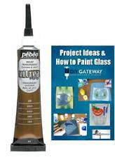 Glass Paint Outliner Gold Leading: Permanent; Create Faux Lead Lines Glass Paint
