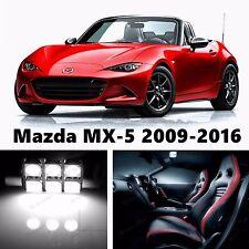 6pcs LED Xenon White Light Interior Package Kit for Mazda MX-5 Miata