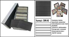 Lindner S4802B Archivbox PRESTO A5 600 Einsteckkarten 5 Streifen + Deckfolie