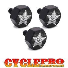 Black Billet Hex Windshield Bolt Kit 93-13 For Harley - SHERIFF STAR BADGE SB