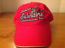 Carmine Salvatore Construction Cap Hat Steam Shovel Embroidered Red Ultra Club