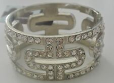 21 Silver-Tone Bracelet with Crystals
