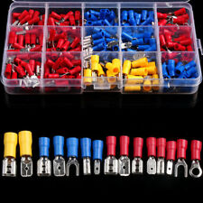 280pcs Assorted Crimp Spade Terminal Insulated Electrical Wire Connector Kit*