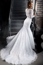 Plunging Mermaid & Trumpet Long Sleeve Wedding Dresses