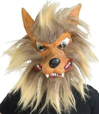 da uomo adulto Crazy PELOSO lupo animale Costume Halloween MASCHERA accessorio