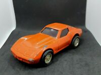 Tonka Vintage Pressed Steel Corvette Pull-Back Orange Car Tonka Corp 1980s