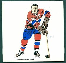 1962-63 H.M.Cowan Ceramic Tile's Canadiens' Boom Boom Geoffrion, Mint
