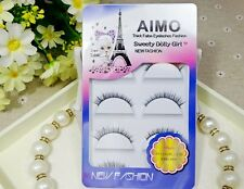 BIG SALE 5 Pairs Natural Eye Lash SHORT Thin Fake false eyelashes Clear Makeup
