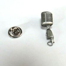 """Shure 55SH Microphone Pin - Pewter Harmony Primitive Jewelry 1"""""""
