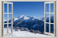 Snow Window 3d kid View Removable Wall Art Stickers Vinyl Decal Home Decor Mural