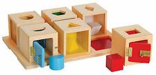 Guidecraft G5058 Kids Peekaboo Lock Boxes Set of 6 Early Learning Manipulatives