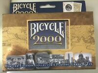 Bicycle 2000 Collectible Tin and 2 Decks of Playing Cards - Limited Edition