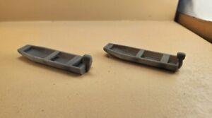 HO Scale 15' Jon Boats (2) , 3D Resin Printed, UNPAINTED