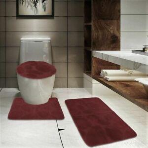 Bathroom Soft Memory Foam Mat, Contour Rug & Lid Cover