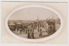 Lancashire postcard - Promenade, S.S, Blackpool - Embossed