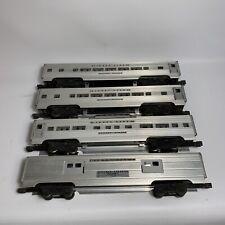 Vintage Lionel 4 Aluminium Cars Lionel Lines 2530, 2532, & 2 x 2534 - O Gauge