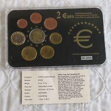 Luxembourg 2005 commemorative 2 euro en 8 pour pièces de monnaie euro type set-pack/coa