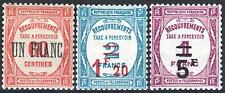 """FRANCE STAMP TAXE 63 / 65 """" SERIE 3 TIMBRES SURCHARGES """" NEUFS xx LUXE   M964"""