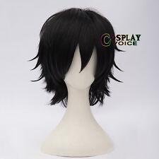 Persona 5 Hero Kurusu Akira Short Black 30cm Layered Men Anime Cosplay Hair Wig