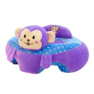 Baby Seats Sofa Toys Cartoon Animal Seat Kids Plush Toy (No Cotton Purple) @