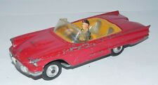 Vintage Corgi Toys 215S FORD THUNDERBIRD SPORT Red Convertible Car with Driver