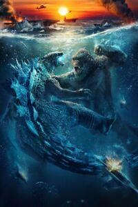 """Godzilla vs. King Kong 2021 movie Film Art poster 18x12"""" 48x32"""" silk Print"""