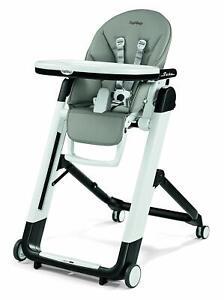Peg Perego Siesta Multifunctional Ultra-Compact Kids Highchair Recliner Ice NEW