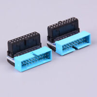 USB3.0 19P20P male 90 degree motherboard chassis front seat expansion connect Fy