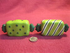Wrapped Candies Presents Stripes Dots Salt and Pepper Shakers Ceramic 24