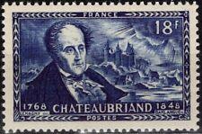 FRANCE  816 ** MNH François-René vicomte de CHATEAUBRIAND écrivain 1948