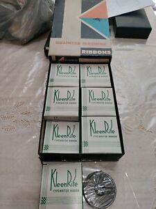 12  pack Vintage KleenRite  Typing Ribbon Black 17 new old stock