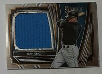 2020 Panini Select Game Used Relics Isan Diaz Rc Jersey Miami Marlins Future