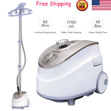 2-In-1 Stand Garment Steamer Clothes Fabric Steamer Hanger Home Commercial Use