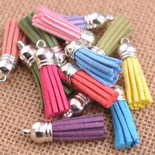 10Pcs 20Pcs 100Pcs Mixed Velvet Tassel Pendant Charms Bag Key Chain Decor Craft