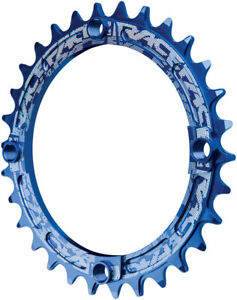 RaceFace Narrow Wide Chainring: 104mm BCD 30t Blue