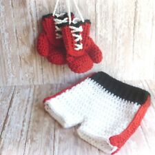 Newborn Baby Photography props boxing champion look knitted clothes