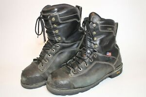 Danner Mens 12 EE Wide 46.5 Quarry USA 8-Inch Leather Hard Toe Work Boots 17311