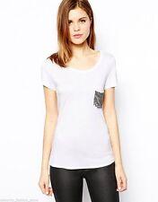 Karen Millen Semi Fitted No Pattern Hip Length Women's Tops & Shirts