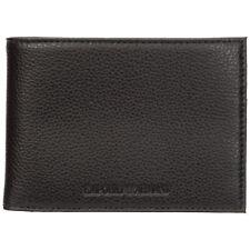 Emporio Armani wallet men Y4R166YEW1E81072 Black calfskin pursue billfold