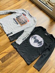 longsleeve Kinder Batman mit wendepailletten , Skate Shirt 134, 140 T-Shirt