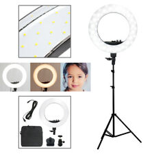 "SMD LED 18"" Ring Light Dimmable 5500K Continuous Lighting Photo Video Stand Kit"