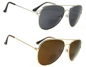 NWT Retro Aviator Bifocal Sun Reader Saxeton Reading Sunglasses Men Women Frame