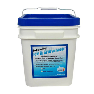 Latex-ite Pail Ice Snow Melt 30 lb. Biodegradable Fast Acting Flakes Form