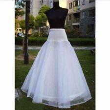 1 Hoop 3 Layer White Wedding Bridal Gown Dress Underskirt Petticoat