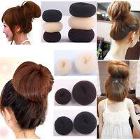 Hair Doughnut Bun Ring Shaper Hair Donut Style Updo Fashion Hair Styling Rool