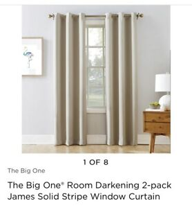 Kohls The Big One James Solid Stripe Curtains 40x84