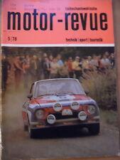 Tschechoslowakische MOTOR REVUE  5 - 1978 Jawa Velorex RAC-Rallye Boucles de Spa
