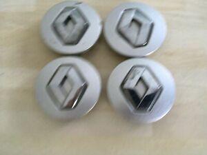 4x  Renault 57mm wheel centre caps  8200043899  #JL41 / JL42 / JL117