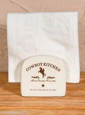 Cowboy Western Horse Ceramic Kitchen Napkin Holder Dining Table Decor