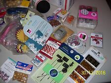 Lot Of Assorted Craft Supplies, Crafts, Crafting, Flocking, Brads,Craft Cord, Fs